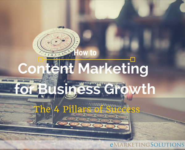 FREE eBook - Content Marketing for Business Growth, The 4 Pillars of Success